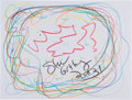 Movie/TV Memorabilia:Original Art, Steve Guttenberg: Actor's Doodle For Hunger. Benefitting St.Francis Food Pantries and Shelters . ...