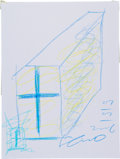 Movie/TV Memorabilia:Original Art, Tadao Ando: Architect's Doodle for Hunger. Benefitting St. Francis Food Pantries and Shelters. ...