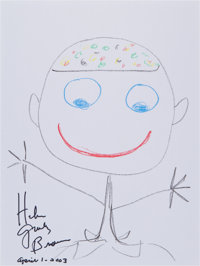 Helen Gurley Brown: Author and Cosmopolitan Editor's Doodle For Hunger Benefitting St. F