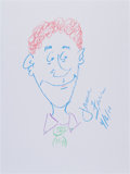 Movie/TV Memorabilia:Original Art, Jamie Farr: Actor's Doodle For Hunger. Benefitting St.Francis Food Pantries and Shelters ...