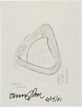 Movie/TV Memorabilia:Original Art, Tommy John: Major League Baseball Pitcher's Doodle ForHunger. Benefitting St. Francis Food Pantries and Shelters...