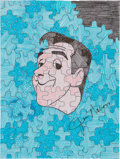 Movie/TV Memorabilia:Original Art, Jim Nabors: Actor's Doodle For Hunger. Benefitting St.Francis Food Pantries and Shelters . ...