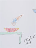 Movie/TV Memorabilia:Original Art, Kurt Russell: Actor's Doodle For Hunger. Benefitting St.Francis Food Pantries and Shelters . ...
