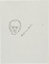 Bob Newhart: Actor's Doodle For Hunger Benefitting St. Francis Food Pantries and Shelter