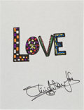Movie/TV Memorabilia:Original Art, Olivia Newton-John: Singer's Doodle For Hunger. BenefittingSt. Francis Food Pantries and Shelters . ...