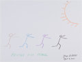 Movie/TV Memorabilia:Original Art, George Mitchell: Politician's Doodle For Hunger. Benefitting St. Francis Food Pantries and Shelters. ...