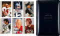 """Football Collectibles:Others, 1998 Football Hall of Fame """"Ron Mix"""" Signed Cards Set of 116, With Album...."""