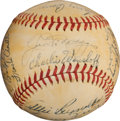 Autographs:Baseballs, 1947 New York Yankees Team Signed Baseball....