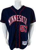 Baseball Collectibles:Uniforms, 2000 Johan Santana Game Worn Minnesota Twins Rookie Jersey....