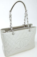 Luxury Accessories:Bags, Heritage Vintage: Chanel Metallic Quilted Caviar Leather Tote. ...