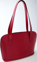 Luxury Accessories:Bags, Heritage Vintage: Louis Vuitton Red Epi Leather Lussac ShoulderBag. ...