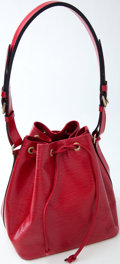 Luxury Accessories:Bags, Heritage Vintage: Louis Vuitton Red Epi Noe Bag. ...