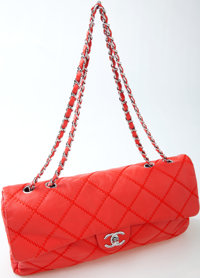 Heritage Vintage: Chanel Red Quilted Handbag with Silver Chain Strap