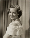"Movie Posters:Drama, Helen Hayes by Clarence Sinclair Bull (MGM, 1930s). Portrait Photo(7.25"" X 9"") and Autographed Notecard (4.5"" X 5.5""). D... (Total: 2Items)"