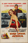 """Movie Posters:Adventure, Fire Over Africa (Columbia, 1954). One Sheet (27"""" X 41"""").Adventure.. ..."""