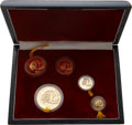 China:People's Republic of China, China: People's Republic of China. Five-piece Panda gold Proof set 1987P,. ... (Total: 5 coins)