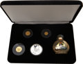 China:People's Republic of China, China: People's Republic of China. Four-piece gold and silver Unicorn Proof Set 1996,... (Total: 4 coins)