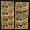Fractional Currency:Fifth Issue, A Large Lot of Eight 10¢ Fifth Issue Notes Good or Better.. ...(Total: 8 notes)