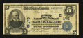 National Bank Notes:Pennsylvania, Williamsport, PA - $5 1902 Plain Back Fr. 598 The First NB Ch. # (E)175. ...