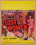 "Movie Posters:Science Fiction, On the Mesa of Lost Women (Howco, 1952). Jumbo Window Card (22"" X28""). Science Fiction.. ..."