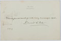 Autographs:Authors, Edward W. Bok (1863-1930, Dutch-American Editor and Author).Autograph Quotation Signed....