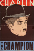 "Movie Posters:Comedy, The Champion (Essanay, R-1930s). Leader Press One Sheet (27"" X 41""). Comedy.. ..."