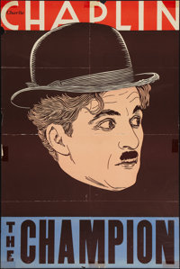"The Champion (Essanay, R-1930s). Leader Press One Sheet (27"" X 41""). Comedy"