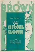 """Movie Posters:Comedy, The Circus Clown (First National, 1934). Leader Press One Sheet(28"""" X 41""""). Comedy.. ..."""