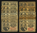 Fractional Currency:Fifth Issue, 25¢ Fifth Issue Fifteen Examples About Good or Better.. ... (Total:15 notes)