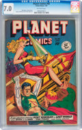 Golden Age (1938-1955):Science Fiction, Planet Comics #58 (Fiction House, 1949) CGC FN/VF 7.0 Off-whitepages....