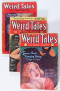 Pulps:Horror, Weird Tales - Robert E. Howard Group (Popular Fiction, 1928-32)Condition: GD/VG except as noted.... (Total: 7 Items)