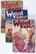Pulps:Horror, Weird Tales - Robert E. Howard Group (Popular Fiction, 1934)Condition: Average VG-.... (Total: 9 Items)