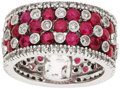 Estate Jewelry:Rings, Ruby, Diamond, White Gold Ring. ...