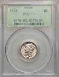 Mercury Dimes: , 1930 10C MS63 Full Bands PCGS. PCGS Population (63/434). NGCCensus: (11/135). Mintage: 6,770,000. Numismedia Wsl. Price fo...