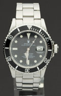 Timepieces:Wristwatch, Rolex Ref. 16800 Steel Submariner, circa 1984. ...