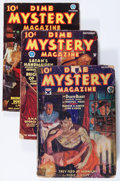 Pulps:Horror, Dime Mystery Magazine Group (Popular, 1933-37) Condition: AverageVG-.... (Total: 5 Items)