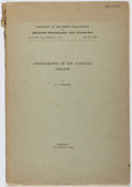 Books:Americana & American History, A. L. Kroeber. Ethnography of the Cahuilla Indians.Berkeley, 1908. First edition, first printing. Toning and offset...