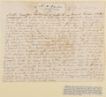 Autographs:Authors, Nathaniel H. Carter (1786-1830, American Writer). Autograph LetterSigned. Tipped to paper. Very good....