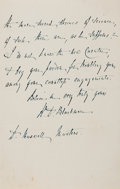 Autographs:Authors, Richard Blackmore (1654-1729, British Poet and Physician).Autograph Letter Signed. Very good....