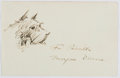 Autographs:Artists, Morgan Dennis (1892-1960, American Illustrator). Signature with Original Drawing. Very good....