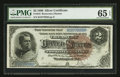 Large Size:Silver Certificates, Fr. 244 $2 1886 Silver Certificate PMG Gem Uncirculated 65 EPQ.....