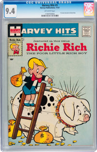 Harvey Hits #3 Richie Rich (Harvey, 1957) CGC NM 9.4 Off-white pages