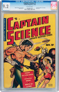 Golden Age (1938-1955):Superhero, Captain Science #1 (Youthful Magazines, 1950) CGC NM- 9.2 Off-white pages....