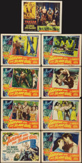 "Movie Posters:Adventure, Tarzan and the Slave Girl and Other Lot (RKO, 1950). Lobby Card Set of 8 and Lobby Card (11"" X 14""). Adventure.. ... (Total: 9 Items)"