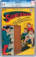 Golden Age (1938-1955):Superhero, Superman #39 (DC, 1946) CGC VF 8.0 Cream to off-white pages....