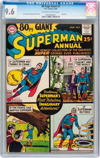 80 Page Giant #1 Superman (DC, 1964) CGC NM+ 9.6 Off-white to white pages