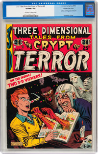 Three Dimensional Tales from the Crypt of Terror #2 Gaines File pedigree 3/12 (EC, 1954) CGC VF/NM 9.0 Off-white to whit...