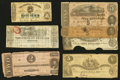 Confederate Notes:1861 Issues, An Assortment of Confederate and Southern States Notes.. ... (Total: 17 notes)
