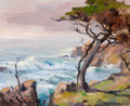 American:Western, ORRIN WHITE (American, 1883-1969). Carmel Cypress. Oil oncanvas. 16 x 20 inches (40.6 x 50.8 cm). Signed lowerright:...