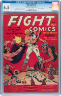 Golden Age (1938-1955):Miscellaneous, Fight Comics #1 Rockford pedigree (Fiction House, 1940) CGC FN+ 6.5 Cream to off-white pages....